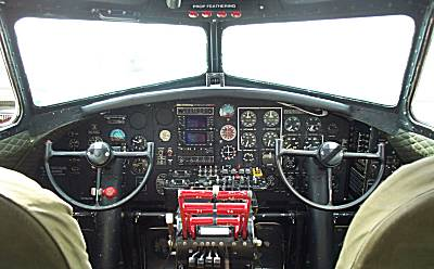 Cockpit of a B-17